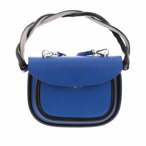Marni ☻ Twisted Handle Satchel Bag ☻ Cobalt ☻